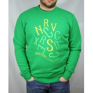 Bluza Nervous Letters Green